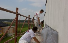 Unser Vollwärmeschutz Team bei der Arbeit