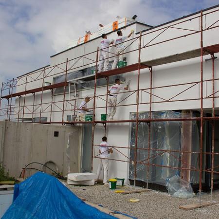 Gerüstverleih für das Doppelhaus in Hörsching bei Linz